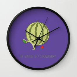 Watermelon strawberry Wall Clock