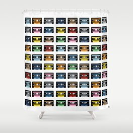 80 Rainbow Tapes Shower Curtain
