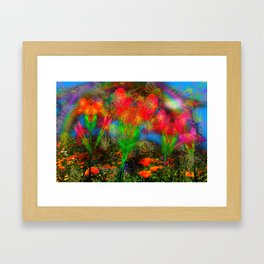 Wild Poppy Hallucintion Framed Art Print