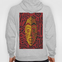 African Tribal Pattern No. 64 Hoody