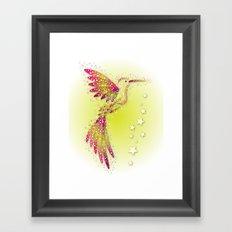 Bubble Bird 2 Framed Art Print