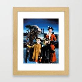 Alien in Mary Poppins Framed Art Print