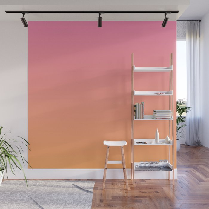 Pink & Orange Ombre Wall Mural