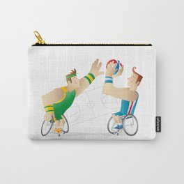 Basketball players in wheel chair Carry-All Pouch