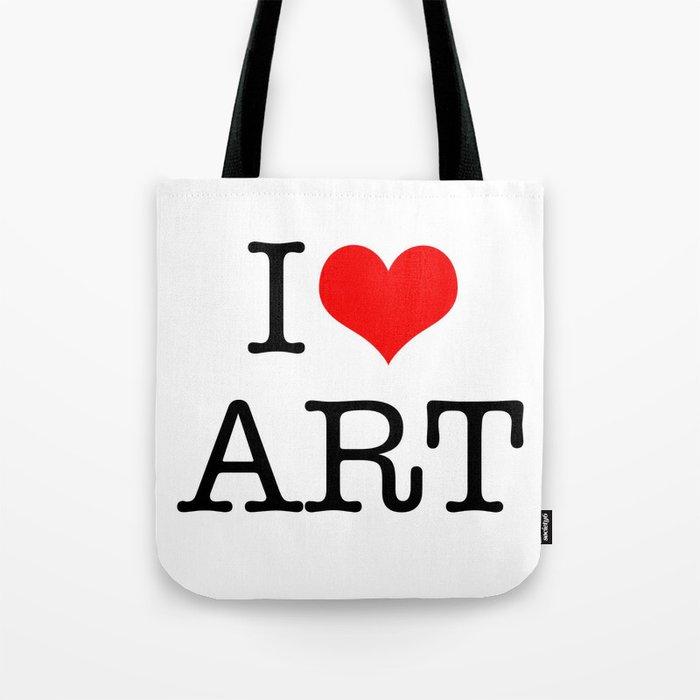 I Love Art Tote Bag by mosriera