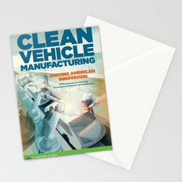 US Department of Energy LPO Poster - Clean Vehicle Manufacturing (2016) Stationery Cards