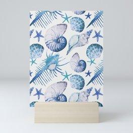 Sea Life Pattern 07 Mini Art Print