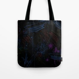 The colorful black BG Tote Bag