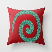 snake Throw Pillows featuring snake by Sébastien BOUVIER
