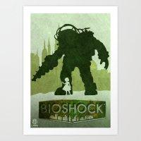 bioshock Art Prints featuring Vector Bioshock by LoweakGraph