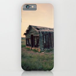 Abandoned Homestead at Sunset iPhone Case
