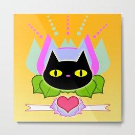 Feline Icon Metal Print
