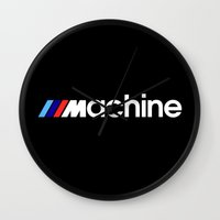 bmw Wall Clocks featuring BMW Machine by Vehicle