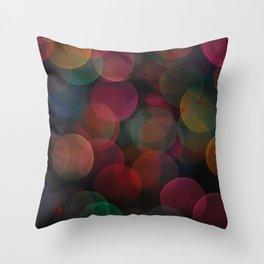 Rainbow Bokeh II Throw Pillow