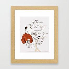 AUTUMN ICONS - colour Framed Art Print