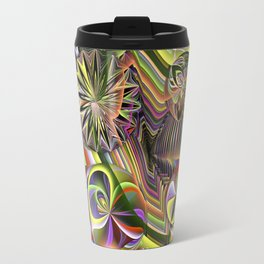 Mind-blowing, colourful fractal abstract Travel Mug