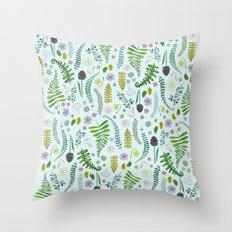Sweet Ferns Throw Pillow