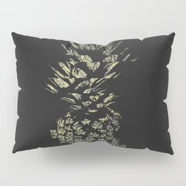 Pineapple with Glitch and Texture Pillow Sham