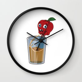Freshly Squeezed Apple Juice Wall Clock