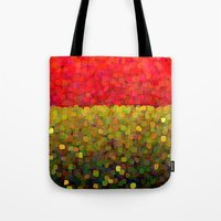gold glitter Tote Bags featuring Sparkle Glitter Red Gold by Saundra Myles