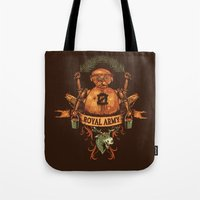 army Tote Bags featuring Royal Army by Hillary White