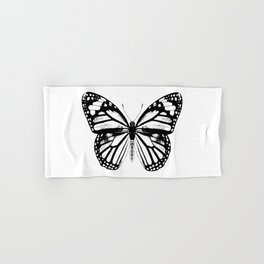 Monarch Butterfly | Black and White Hand & Bath Towel