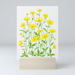 Wildflowers Pattern Mini Art Print