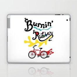 Burning Rubber bike Laptop & iPad Skin