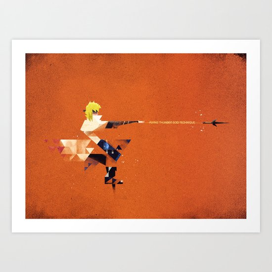 The Yellow Flash Art Print