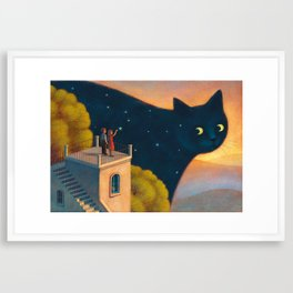 Eyes of the night Framed Art Print