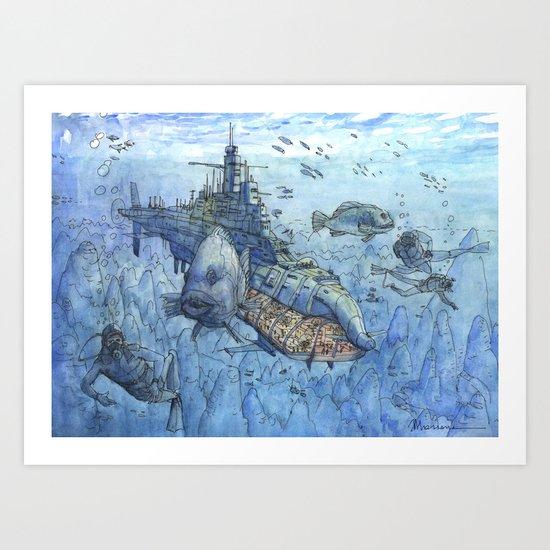 La Citta' Sommergibile Art Print