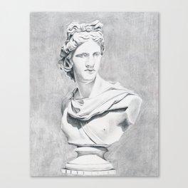 Apollo Bust Sculpture Canvas Print