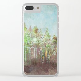 A forest waits... Clear iPhone Case