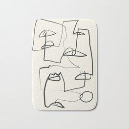 Abstract line art 12 Bath Mat