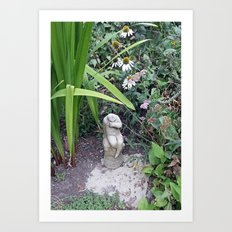 Sitting in the Garden Art Print