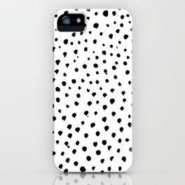 Dalmatian dots black iPhone Case