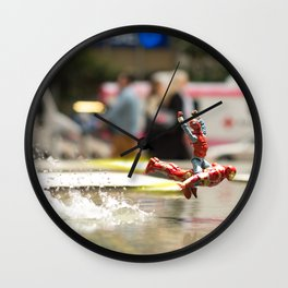 Spider-Man Hitching a Ride Wall Clock