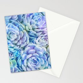 Rainbow succulents Stationery Cards