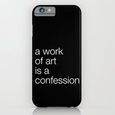 work of art black iPhone 6s Slim Case