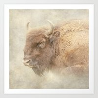 bison Art Prints featuring Bison by Peaky40