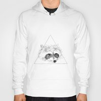racoon Hoodies featuring Racoon by Girard Camille