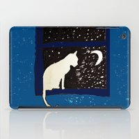 ashton irwin iPad Cases featuring White Cat by Brontosaurus