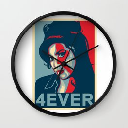 Amy 4ever poster Wall Clock