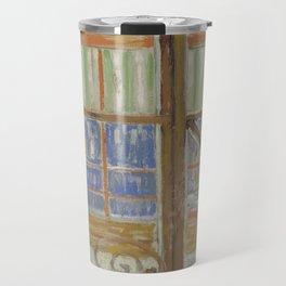 View of a Butcher's Shop Travel Mug