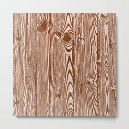 c13D Woodgrain Metal Print