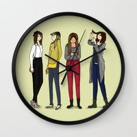 ombre Wall Clocks featuring Ombre by Wild days