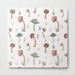 Dancing Mushrooms Metal Print