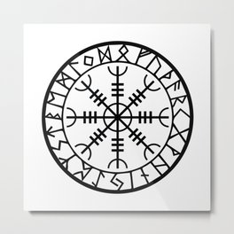 Norse - Helm of Awe Metal Print