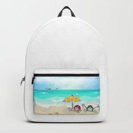"""""""Pops"""" Emoji Beach Scene Backpack"""