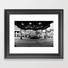 Taaaxi! [Black & White] Framed Art Print